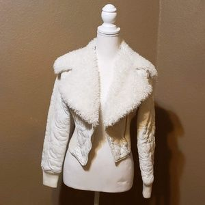 Bebe Cropped Zip Up Jacket